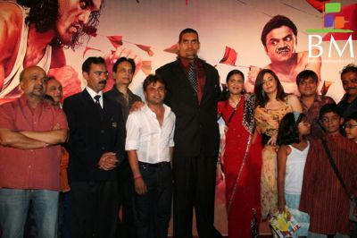 Khali at the film Khusti Bash