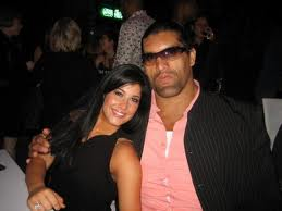 khali with his wife harminder